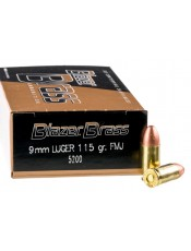 Патрони CCI Blazer Brass 9MM 115GR. FMJ