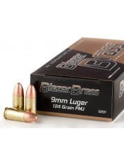 Патрони CCI Blazer Brass 9MM 124GR. FMJ
